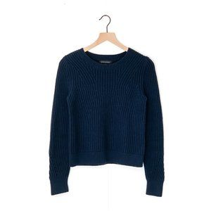 BANANA REPUBLIC chunky pointelle cropped sweater